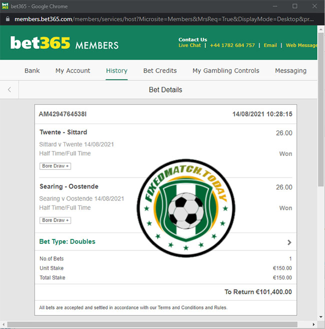 Best Fixed Matches Today